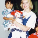 With my new mom and the doll she made me